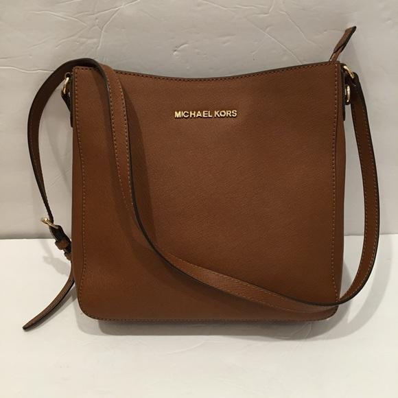 aabeb2e84d2cc3 Michael Kors Bags | Brown Jet Set Leather Crossbody | Poshmark